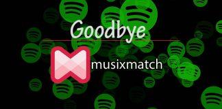 Say Goodbye to Spotify with Musixmatch lyrics