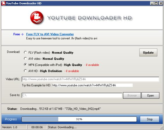 YouTube Downloader for Windows 10