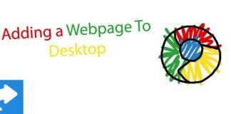 add website to desktop