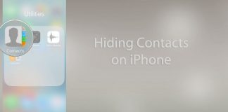 hide contacts on ios 11