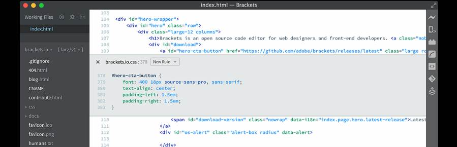 BracketsCode Editor