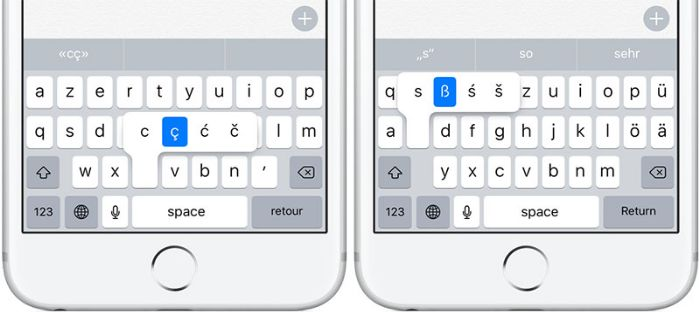 Type Accents on iPhone
