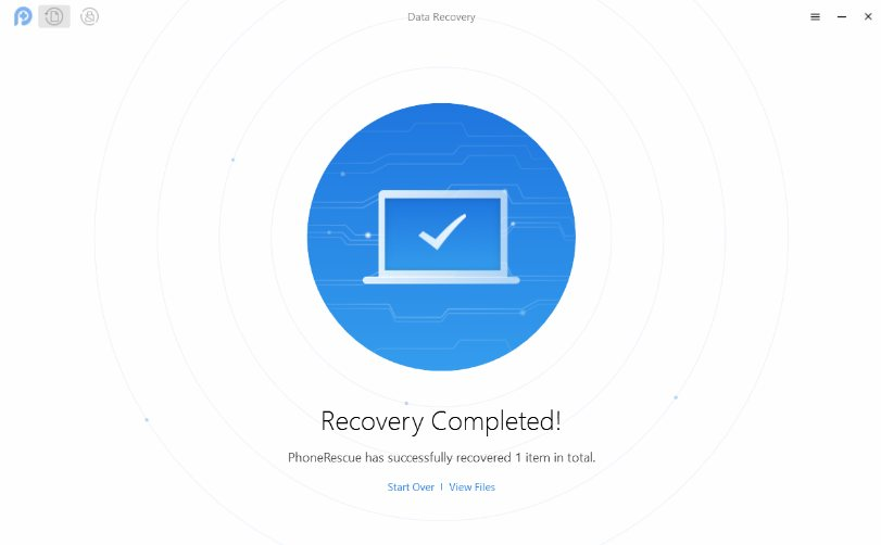 Recover Lost Videos Using PhoneRescue