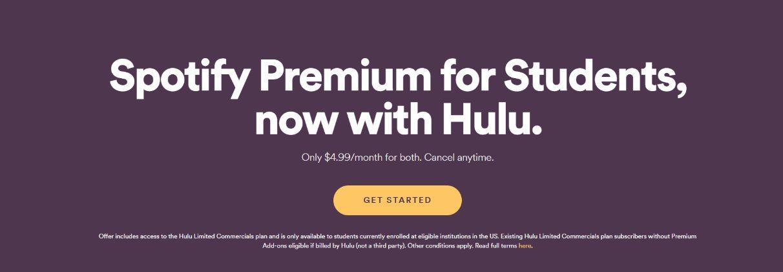 Spotify Student Plan