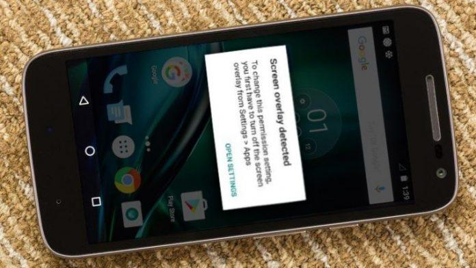 creen Overlay Detected on Moto G4