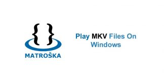 Play MKV files on Windows