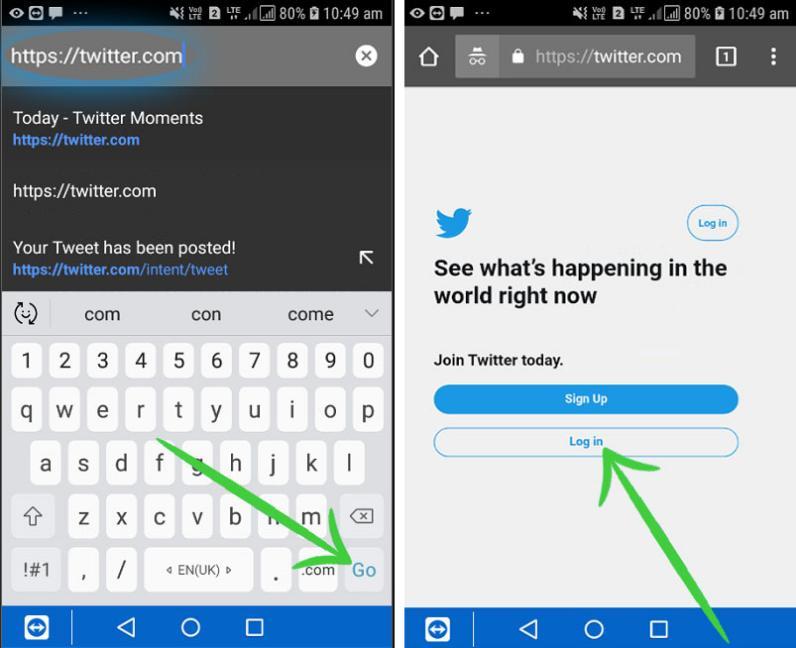 Twitter DesktopSiteon Android