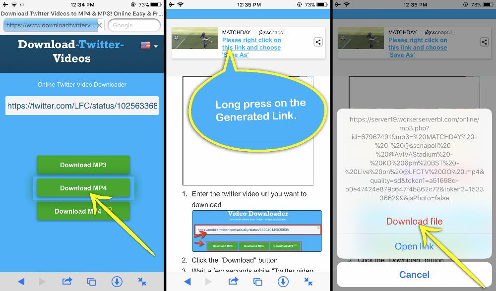 How to Save Twitter Videos on iPhone camera roll