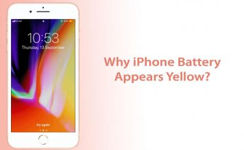 iPhone Battery Yellow