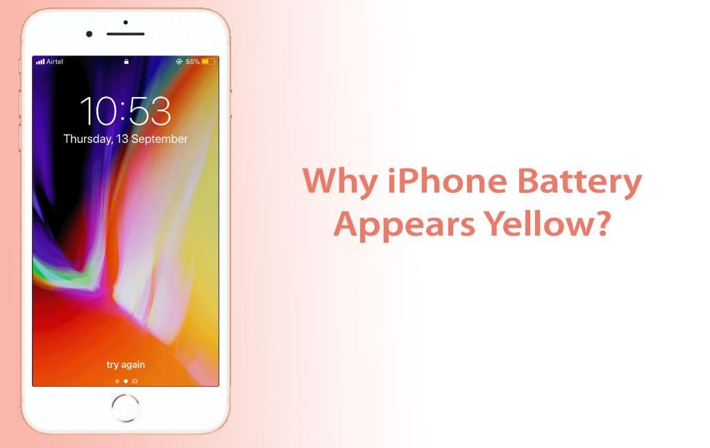 iPhone Battery Yellow