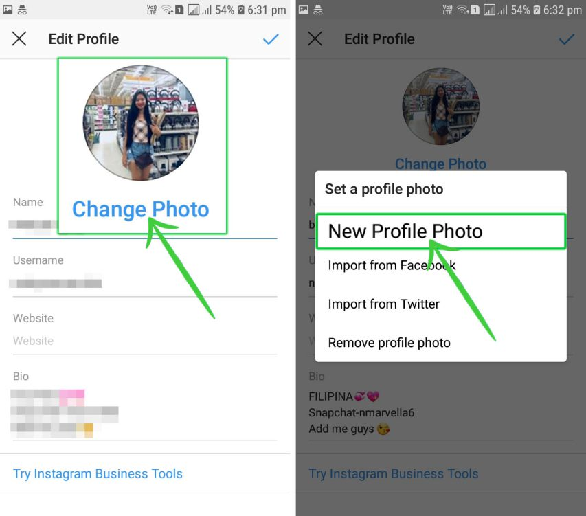 Change my Instagram Profile Picture