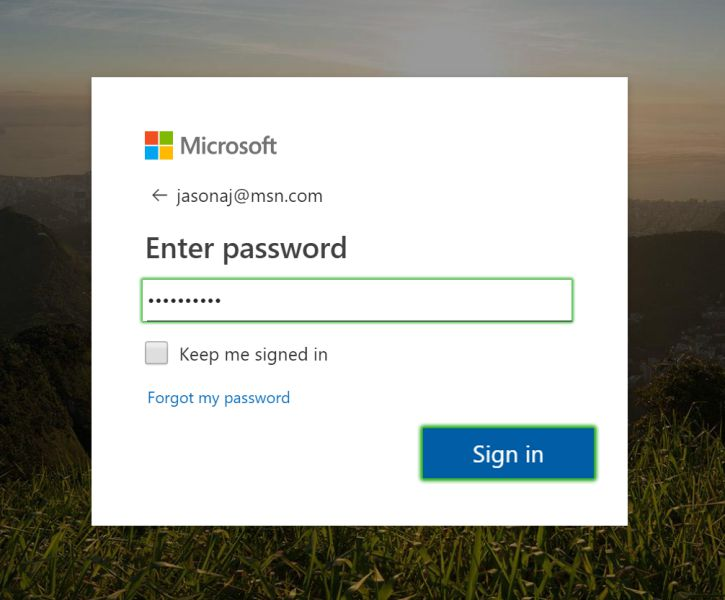 Sign in to MSN