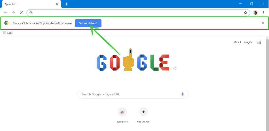 make Chrome Default browser on Windows 10