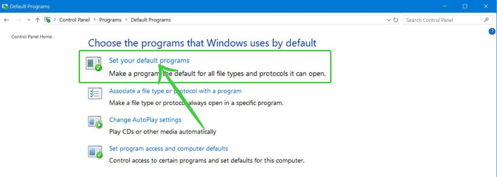 How to make Chrome Default browser on Windows 10