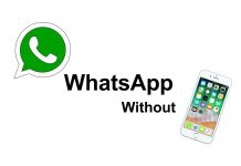 WhatsApp without phone